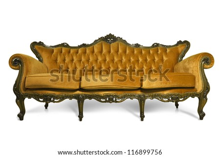Luxurious sofa on white background - stock photo