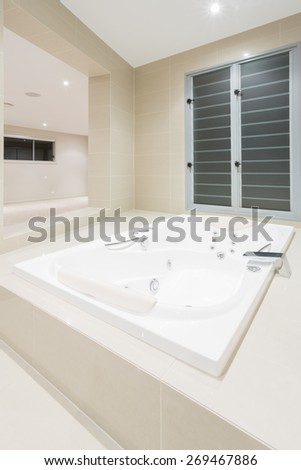 Luxurious spa in modern mansion - stock photo