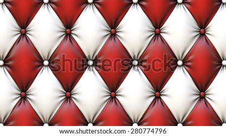 luxurious texture of leather upholstery. - stock photo