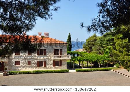 Luxurious villas resort in Montenegro - stock photo