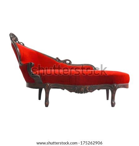 Luxurious vintage red sofa  - stock photo