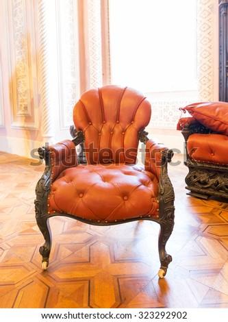 Luxuroius vintage arm-chair - stock photo