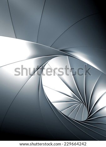 Luxury abstract metal background 3d illustration - stock photo