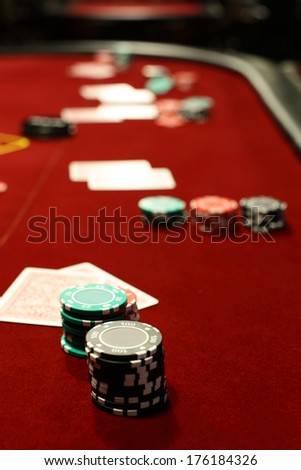 luxury and stylish interior of european casino - stock photo