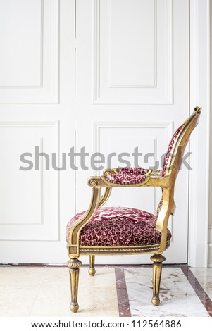 Luxury antique chair. - stock photo