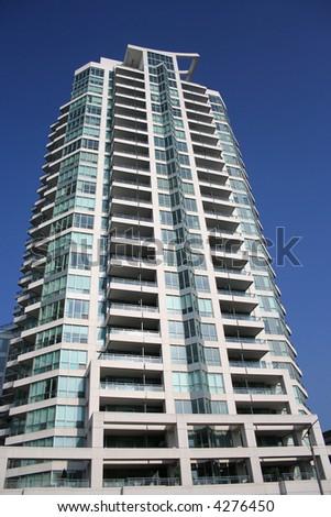 Luxury apartment building Toronto Canada - stock photo