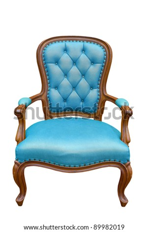 luxury armchair isolated on the white background with clipping path