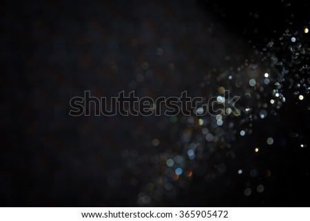 Luxury background blur bokeh black background - stock photo
