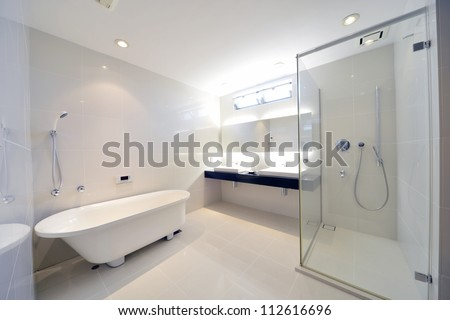 Luxury bathroom-1-1 - stock photo