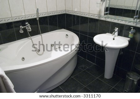 luxury bathroom in hotel