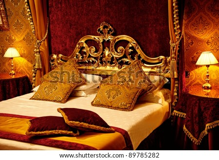 Luxury bed - stock photo
