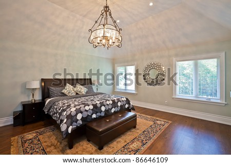 Luxury bedroom in an estate house - stock photo