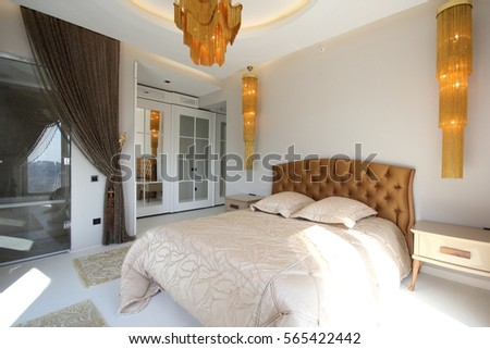 Luxury Bedroom Interior. Luxury Interior Stock Images  Royalty Free Images   Vectors