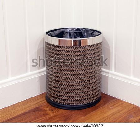 Luxury bin at the corner - stock photo