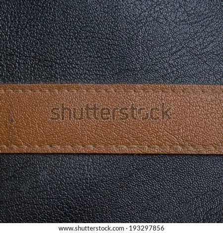Luxury black and brown leather - stock photo