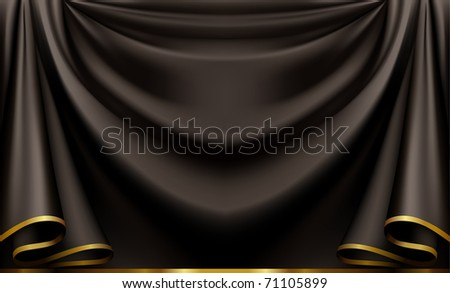 Luxury black background, bitmap copy - stock photo