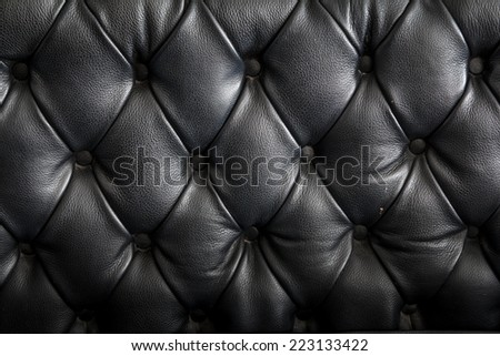 Luxury Black Leather Texture Background - stock photo