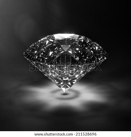 Luxury blue diamond background - with lensflare - stock photo