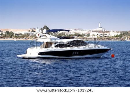 luxury boat - stock photo