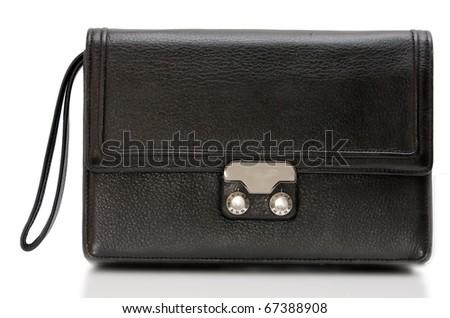 Luxury business black briefcase - stock photo