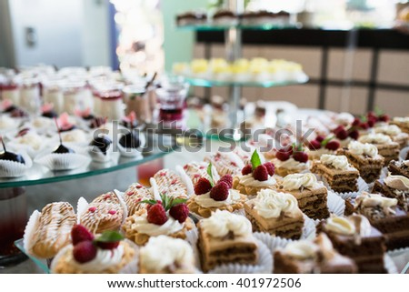 Wedding dessert table stock images royalty free images vectors luxury cakes on wedding dessert table in restaurant junglespirit Choice Image