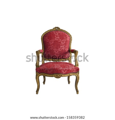 Luxury  chair isolated on white background