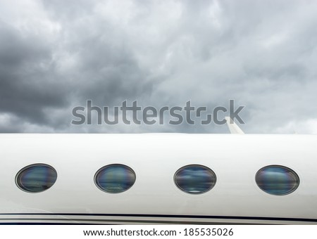 Luxury Corporate Business Private Jet plane windows