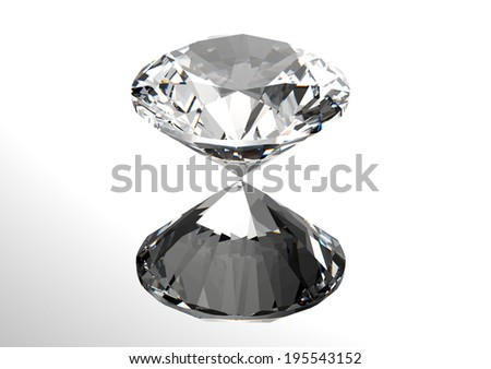 Luxury 3D diamonds render. Jewelry gemstone - stock photo