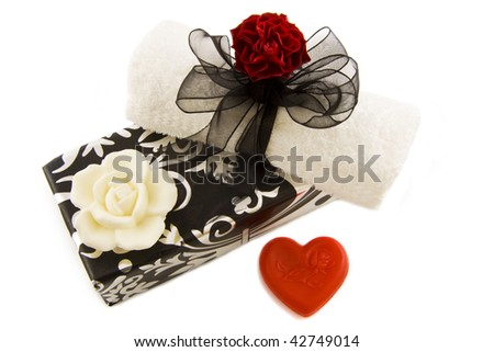Luxury decorative gift box isolated over white