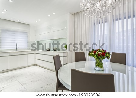 Luxury Design Of Dining Room And Kitchen