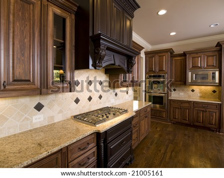 Luxury Diamond tile Kitchen corner view