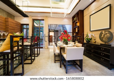 luxury dining room with nice decoration