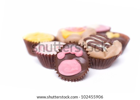 Luxury dog treats, isolated on a white background. - stock photo