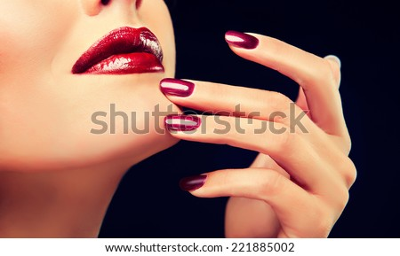 Luxury fashion style, manicure, cosmetics and make-up - stock photo