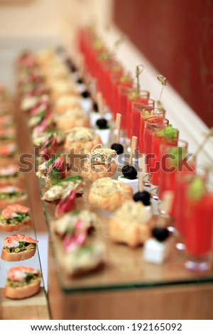 Luxury food. Shallow depth of field
