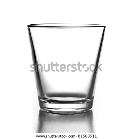 luxury glass isolated on a white background - stock photo