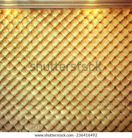 Luxury golden background with buttons - stock photo