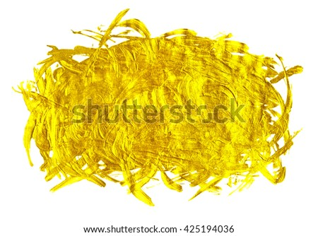 Luxury golden brush strokes. Golden texture. - stock photo