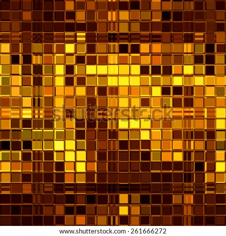 Luxury golden mosaic - stock photo