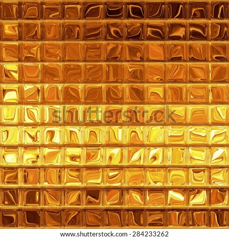 Luxury golden mosaic, gold background - stock photo