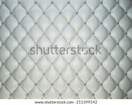 Luxury grey leather background with diamonds or gemstones. Useful as luxury pattern - stock photo