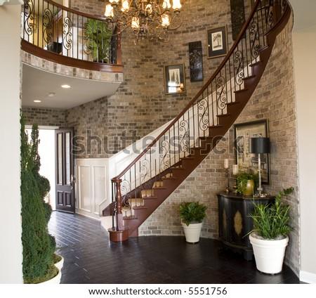 Luxury home entrance - stock photo