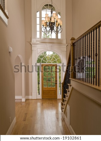 Luxury Home Entrance way Corridor - stock photo