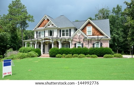 luxury home for sale - stock photo