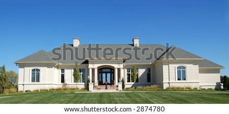 Luxury home on a golf course development