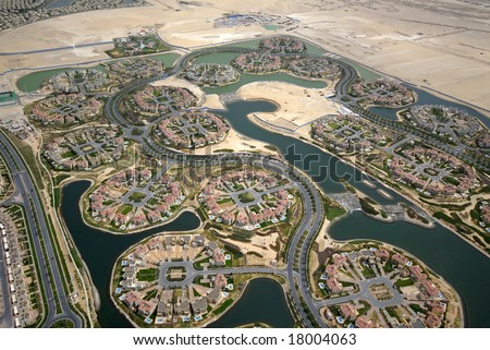 Luxury Home Real Estate Villa Developments In The Middle East - stock photo