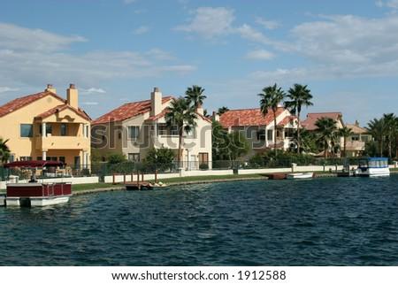 Luxury homes neighborhood - stock photo