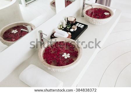 Bathroom Flowers Stock Photos RoyaltyFree Images Vectors