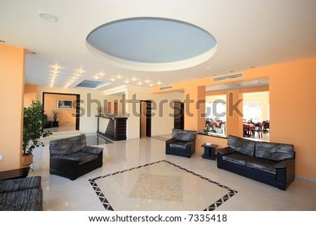 Luxury Hotel lobby reception area - stock photo