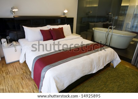 Luxury hotel room in a five star hotel - stock photo